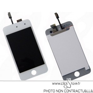 Ecran complet iPod touch v4 blanc