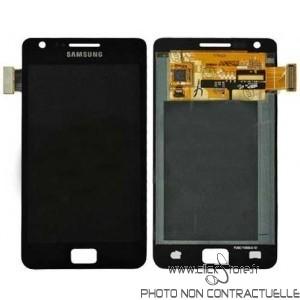 Vitre Tactile Noir + Ecran LCD Prémonté avec Chassis Pour Samsung Galaxy S2 / I9100