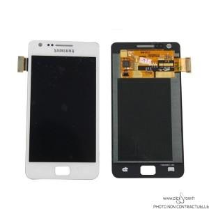Vitre Tactile Blanc + Ecran LCD Prémonté avec Chassis Pour Samsung Galaxy S2 / I9100