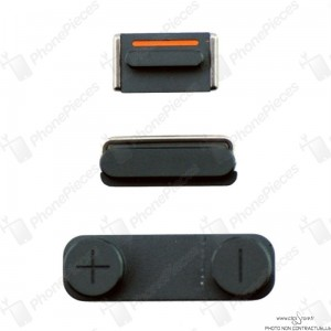 Pack bouton noir iPhone 5