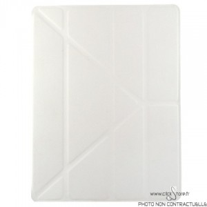 Housse Rigide 360° multi angle Blanc Ipad 2 / 3 / 4