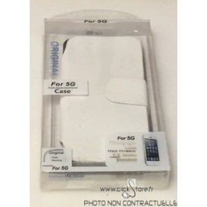 Housse Portefeuille noir ou blanc  Iphone 5 / 5S