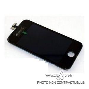 Vitre Tactile + Ecran LCD Noir Prémonté avec Chassis Pour Iphone 4