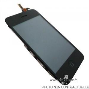Bloc ecran noir Iphone 3GS complet + ecran LCD prémonté pour Iphone 3G