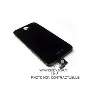 Vitre tactile + écran LCD noir prémonté avec chassis pour Iphone 4S