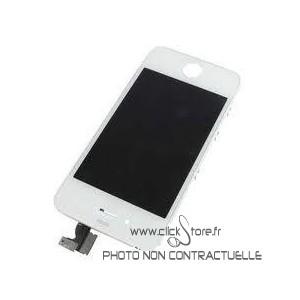 Vitre tactile + écran LCD Blanc prémonté avec chassis pour Iphone 4S