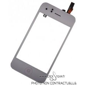 Châssis blanc intermédiaire pour IPhone 3GS complet avec vitre blanche prémontée