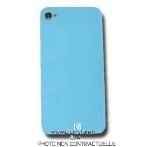 Vitre arrière turquoise uni pour Iphone 4 complète avec châssis prémonté
