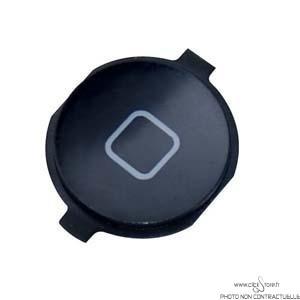 Bouton Home pour iphone 4 Noir