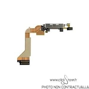 Nappe USB et micro pour Iphone 4 noir
